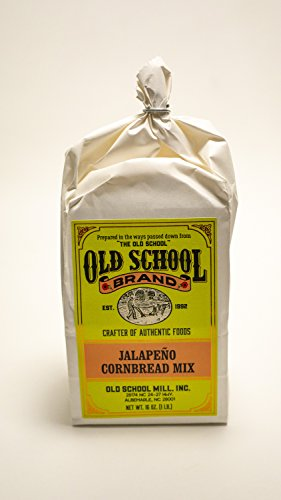 Old School Brand Jalapeño Cornbread Mix (Non-GMO) - 16 Ounce Bag - A great accompaniment to fish, chili, BBQ, chicken and other holiday ()
