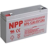 NPP NP6-12Ah Rechargeable Sealed Lead Acid 6V 12Ah Battery F1