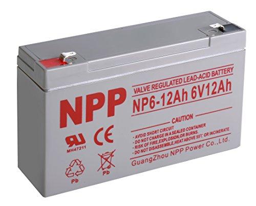 NPP NP6-12Ah Rechargeable Sealed Lead Acid 6V 12Ah Battery F1 ()