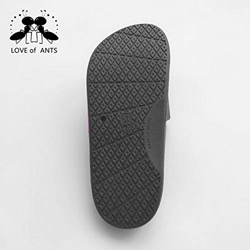 Antislip Of Indoor Ants Love Sandals Men Bath Black Women wTXXqdp