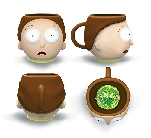 20oz Mug Molded Rick Morty And 3d Official Ceramic Novelty Just Gift Funky Coffee XZuPTkOi