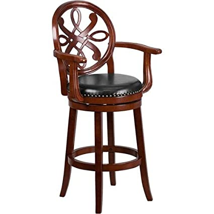 Super Amazon Com Parkside 30 In High Cherry Wood Barstool With Squirreltailoven Fun Painted Chair Ideas Images Squirreltailovenorg
