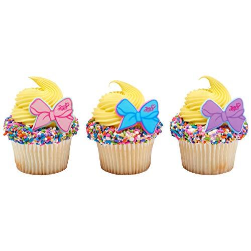 (24 JoJo Siwa Cupcake Rings Toppers Party Supplies)