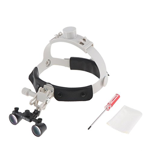 Magnifying Exam Lamp - BoNew Head Dental Loupes Surgical Binocular Magnifier Magnifying Supply 2.5X420mm
