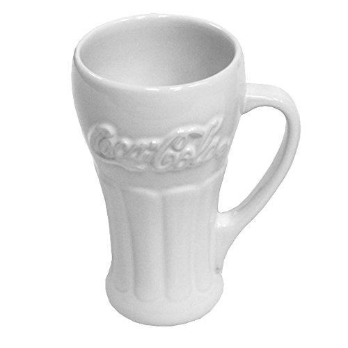 OKSLO White ceramic coca-cola coke soda pop mug 14 oz