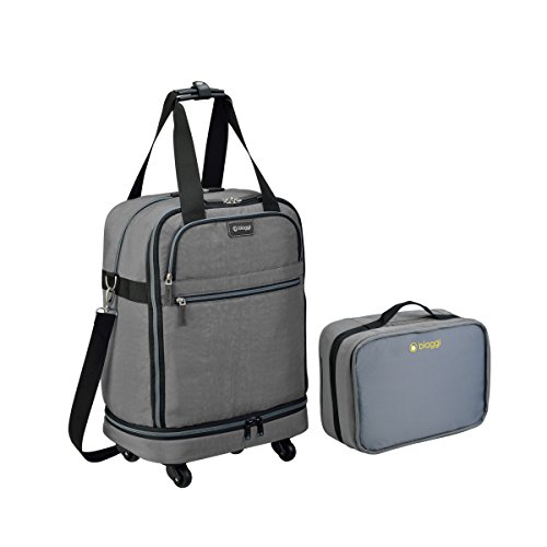 """Carry On Duffle Microfold 22"""" Bags Canvas Zipper Closure Tra"""