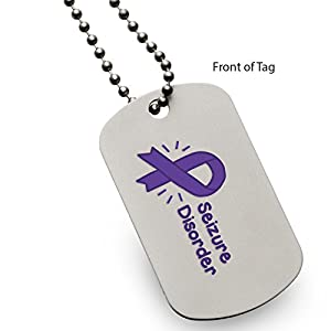 Seizure Disorder Medical Alert ID Dog Tag