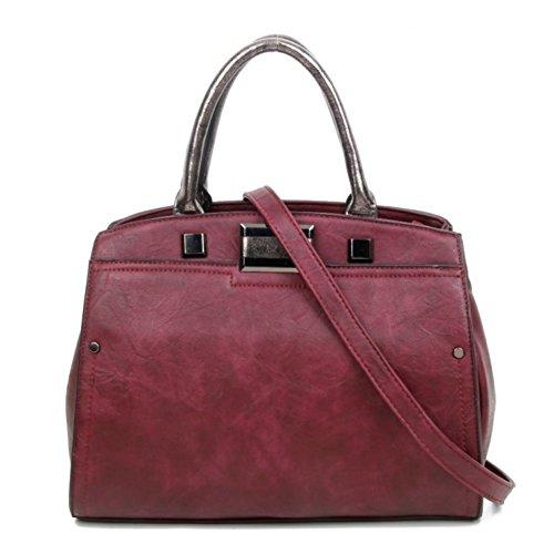 foncé Cabas femme Elegant Fashions pour rouge qXwqUg6