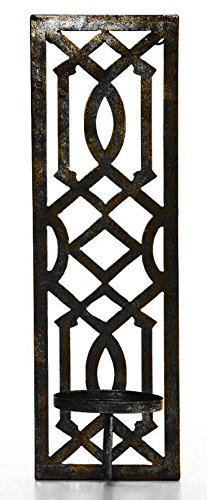 Hosley's 16.5 High Oil Bronze Finish Metal Wall Sconce. Great Wall Decor Ideal Gift for Wedding, Party, Spa, Home Decor O5 HG Global FBA-G85957ON-1-EA