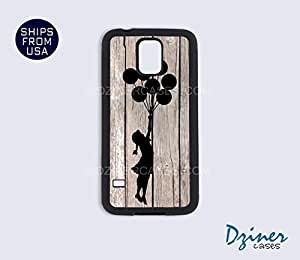 Galaxy Note 2 Case - Wood Print Banksy Balloon Girl BY icecream design