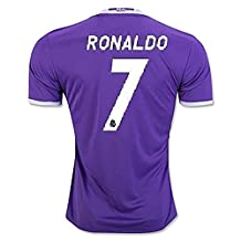 #7 Ronaldo Real Madrid Away Kid Soccer Jersey & Matching Shorts Set 2016-17,Purple,Youth S (6 to 8 Years Old)