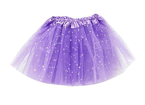S2 SPORTSWEAR Tutus for Girls Ballet Skirts Tulle Stars Sequins Dance Costume Layered Party Dress (KB104) Light (Halloween Costumes Dancing With The Stars)