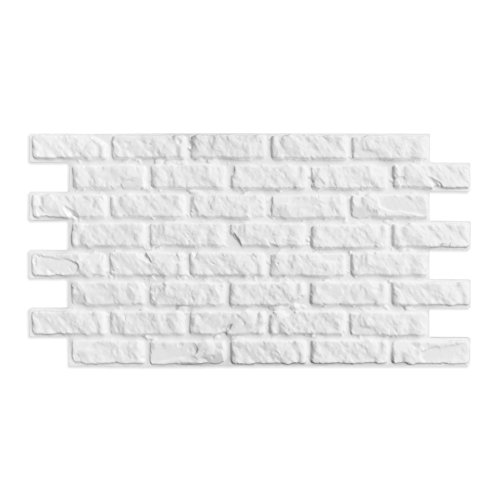 Decoresin Falso Panel Imitación Ladrillo en Poliestireno Expandido. Plancha Decorativa ideal para el refuerzo de Aislamiento Térmico para pared.