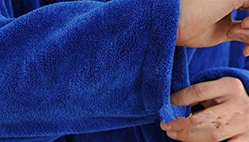 Spesso Hellblau Camice Semplice Soft Vestitino Da Sauna Super Uomo Flanella Accappatoio Bagno Abito Donna Stile Accogliente Bagno rrqBvw