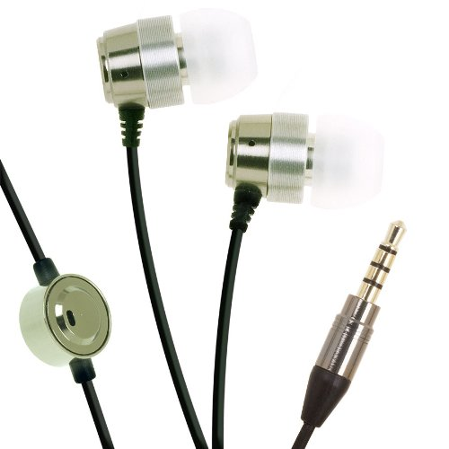(Platinum i-Series High Fidelity Stereo Earphones With Mic and on/off button  For iPhone, BlackBerry and MP3 with 3.5mm DC Jack )