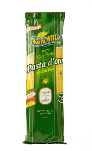 Sam Mills Gluten Free Pasta D'Oro, Corn Spaghetti, 16 Ounce Bags (Pack of 24) by Sam Mills