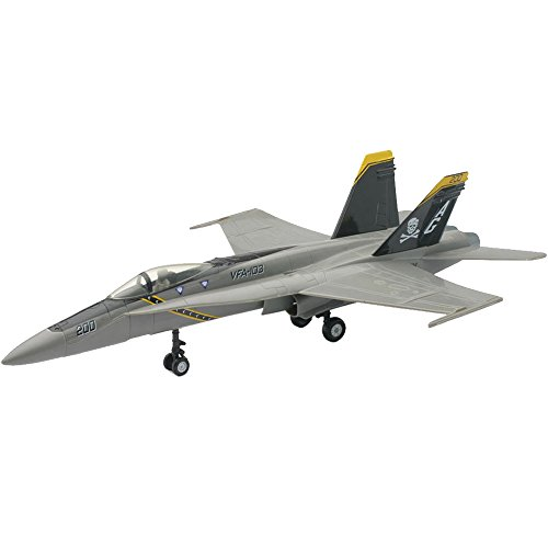 F-18 Gray Hornet Model Kit Skull and Crossbones Logo Kids Hobby 1:72 ()