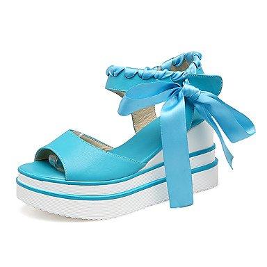 KYDJ @ Mujer-Tacón Cuña-Creepers-Sandalias-Exterior Vestido-Semicuero Blue