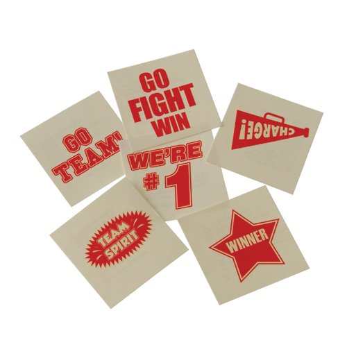 DollarItemDirect RED School Spirit Temporary Tattoos , Sold by 26 GROSSES by DollarItemDirect (Image #1)