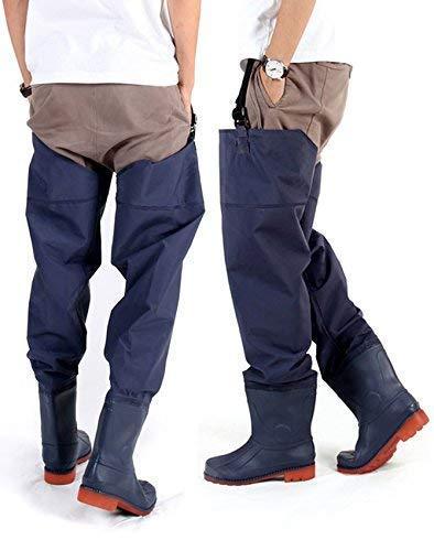 KeepMini Fishing Hunting Wader for Men and Women 2-Ply PVC/Nylon Hip Wader Hip Boot