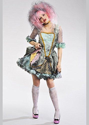 Delights Damen Deluxe Halloween Ghost Marie Antoinette Prinzessin Zombie Kostüm
