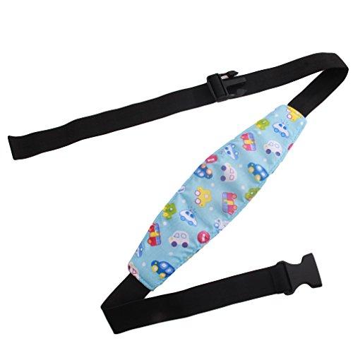Safety Car Seat Sleep Nap Aid Baby Kids Head Support Holder Belt (Blue Car)