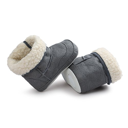 Pictures of Meckior Infant Baby Girls Winter Snow Booties 3