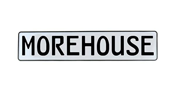 Vintage Parts 714628 Wall Art Morehouse White Stamped Aluminum Street Sign Mancave