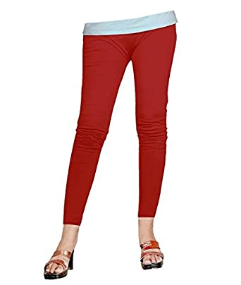 2e17313ce2dd23 Naisargee Red Color Silk Poly cotton Ankle Leggings for Women's and Girl's  (XL): Amazon.in: Clothing & Accessories