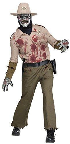 Fun World Zombie Sheriff Adult Costume (One (Mens Zombie Sheriff Costumes)