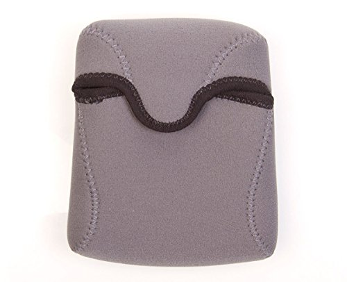 OP/TECH USA Bino Roof Soft Pouch - Padded Binocular Case, Small (Steel) by OP/TECH USA