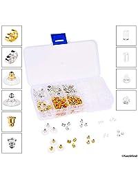 Kare and Kind 3.5mm Metal Earring Backs, Pack of 200 - Retail Packaging