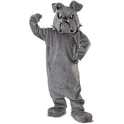 Rubie's Bulldog Mascot Costume, Grey, One Size