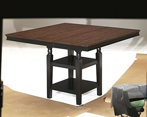 Collection Hardwood Dining Room Server (Ashley Furniture Signature Design - Owingsville Dining Room Table - Counter Height - Vintage Casual with Built-in Shelving - Black/Brown)