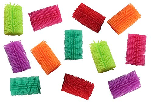 Curious Minds Busy Bags Bulk 12 Squishy Soft Puffer Pencil Grip - Sensory School Supply or Prize