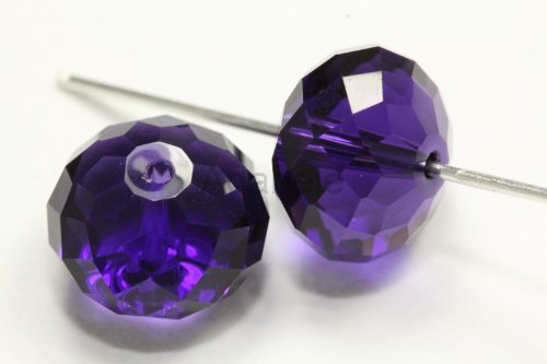 50 4mm X 6mm 4x6 Adabele Austrian Rondelle Faceted Crystal Beads Purple (Opal Rondelle Beads)