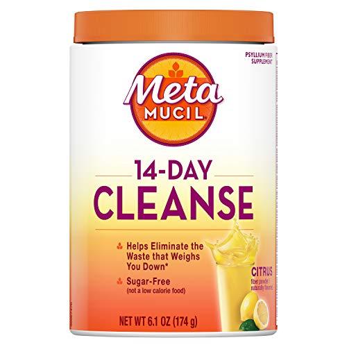 Metamucil Fiber 14-Day Cleanse, Psyllium Fiber Supplement, Sugar Free Powder, Citrus Flavored Drink, 30 servings (Packaging May Vary)