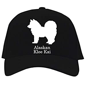 Idakoos Alaskan Klee Kai Silhouette Baseball Cap Black 4