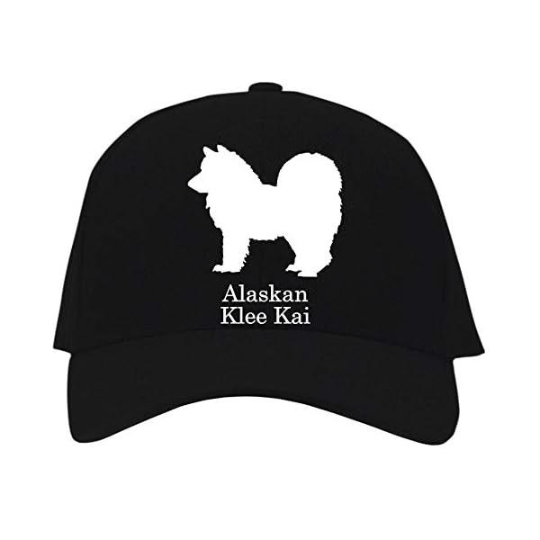 Idakoos Alaskan Klee Kai Silhouette Baseball Cap Black 1