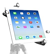 iShot Proxae New iPad Air Retina 5th Generation Tripod Mount - Works with Most Cases, Sleeves and Smart Covers Even Thick Otterbox Cases - G7 Pro Model - iPad 5 Tripod Mount - Adapter - Holder - Attachment - Bracket - Long Lasting Sturdy Adjustable Metal Frame - 1/4-20 Thread - Safely Mount Your Apple iPad Air to ANY Standard Tripod, Light Stand, or Music Stand (i-8846-G7-4003)