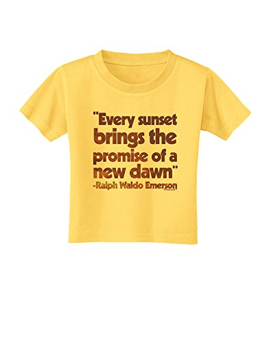TooLoud Emerson Sunset Quote Toddler T-Shirt - Yellow - 4T