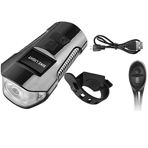 t- USB 4 Modes Rechargable Cycling Bike Lamp Bicycle Head Light Flashlight (Black) ()