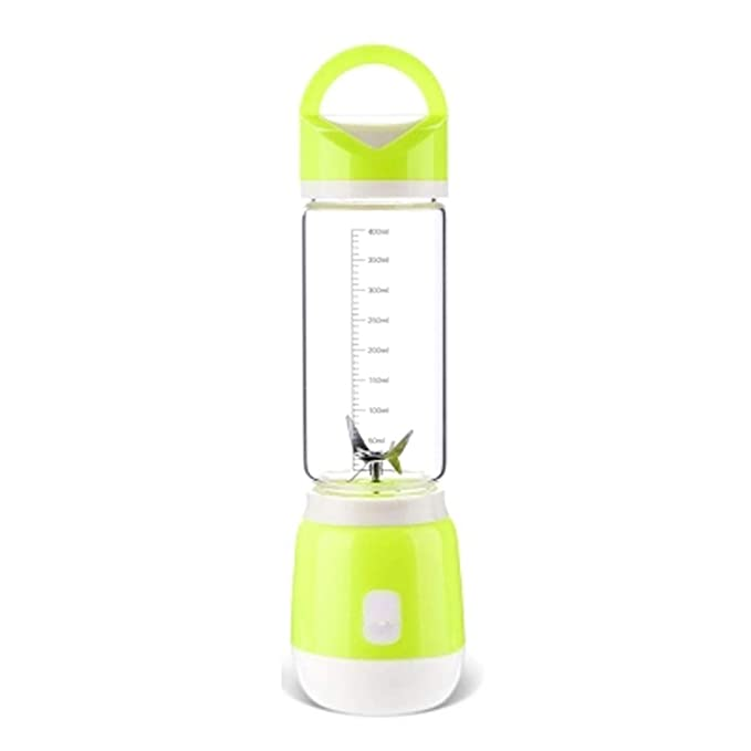 WGFGXQ Mini Portable Juicer, USB Rechargeable Fruit Blender,Green,Singlecup