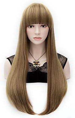 GSP-lino final aducción gradiente de pelo verde larga peluca ...