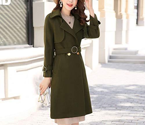 Hiver Laine Chaud Coton Hiver Femme Simple vent Ab Automne Coupe Et Long Femme Verte Armée Modèles Veste Manteau En X8fnxp4
