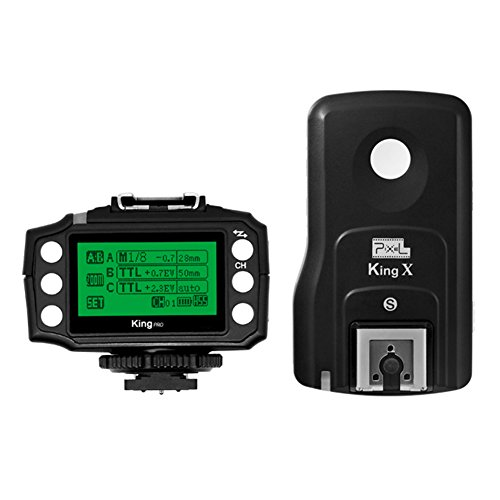 PIXEL King Pro Wireless Flash Trigger +receiver 2.4GHz TTL For Sony MI Hot Shoe Mirrorless Digital SLR Cameras A7、A7R、A7RII、A6300、A65、A77II、RX10III, A6000、RX1RII、A7II、A7SII、A7S by Pixel