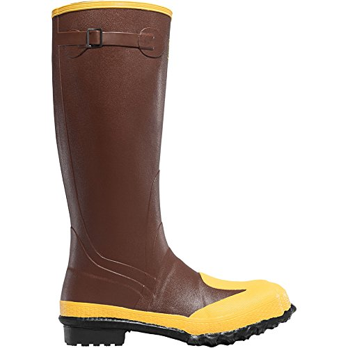 Lacrosse Footwear 0022-7050 SZ 12 Protecta 22705 16'' Rubber Boots with Steel Toe and Metatarsal, Brown & Yellow by LA CROSSE (Image #1)