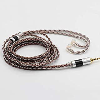 Linsoul TRIPOWIN C8 8-Core Silver Copper Foil Braided Earphone Replacement Upgrade Cable, Tinsel Silver Copper Wire for KZ ZSX, ZSN Pro, ZS10 Pro NF2u, QDC IEMs (2.5mm Plug, QDC Connector)