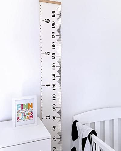 Veronivan Kinder-Messlatte abnehmbare Messlatte f/ür Zuhause Messlatte Kinder Baby-Wachstumsdiagramm Lineal h/ängende Wanddekoration