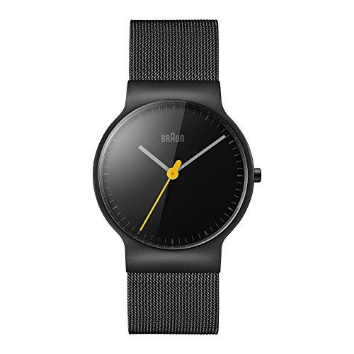 Braun BN0211BKMHL Mens Classic Slim Black Steel Bracelet Watch